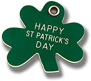 LuckyPet Pet ID Tag - Shamrock Shape Dog & Cat ID Tag - Custom Engraved on Front & Reflective on Back!