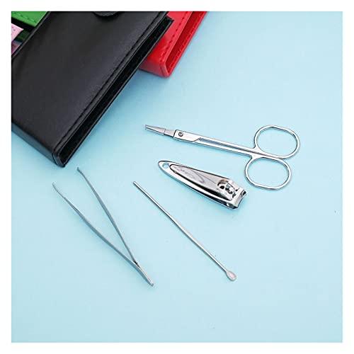jinyi2016SHOP Juego de Cortaúñas 4 PCS/Set Stickers Scissors Scissors Archivo Pinzas PVC Bag Case Mini Nail Manicure Herramienta Juego de Herramientas Kits de Cuidado de uñas Tijeras de Uñas para