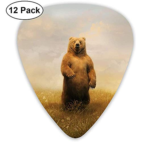 12er Pack Guitar Picks Plektren Schach Lila Light Celluloid Guitar Pick Set Für Akustische E-Gitarre Bass Mandoline Ukulele 0,46 mm 0,71 mm 0,96 mm
