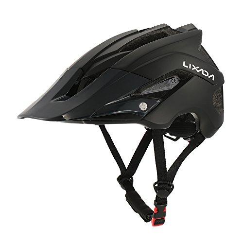 Lixada Ultraleichter Schutzhelm mit 13 Winde für Mountainbike, Radfahren (schwarz)