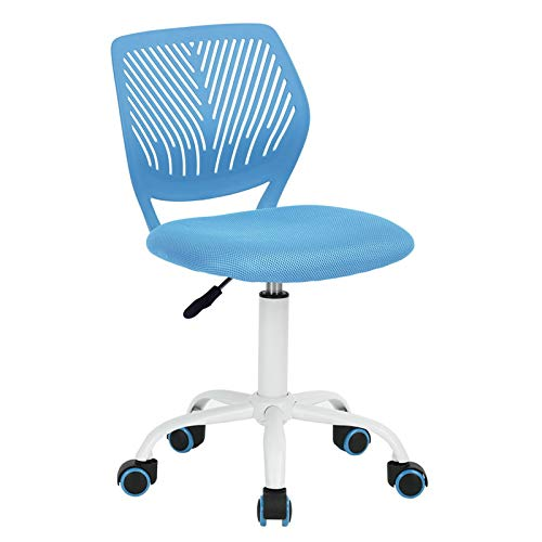 GreenForest Desk Chair for Kids Teens Office Chair with Low Back Armless Adjustable Swivel Chair,Blue