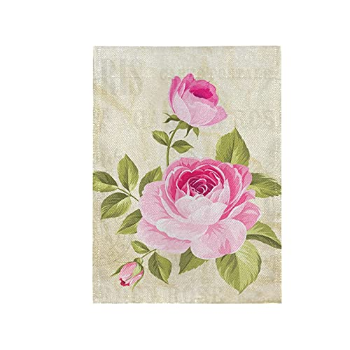 REFFW Garden Flag Double Sided Home Gardening Banner for Outdoor Lawn Decor Rose Flowers Garland