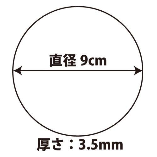 Good-Lコルクコースター丸(直径90㎜厚さ3.5㎜)【100枚入り】