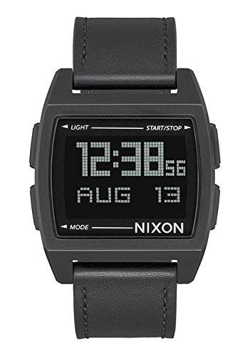 Nixon Unisex Erwachsene Digital Uhr mit Leder Armband A1181-001-00