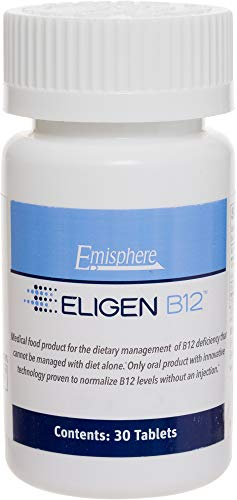 Eligen B12 Vitamin B-12 Tablets - 1000 mcg - Easy to Use - Clinically Proven to Be As Effective as Injections & Boosts Energy Level & Overall Health (1 Month Supply, 30 Count, Small Tablets)