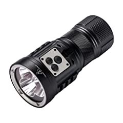 Niwalker Nova Mini Max MF5SV1 Rechargeable LED Flashlight-15,000 Lumens - 850meters throw - using 2x XHP70 for Floom beam and 1x XHP35 HI for Focus Beam Smart triple Multi-function clicky side switches. LED indicator turns red(below 12V) to alert use...
