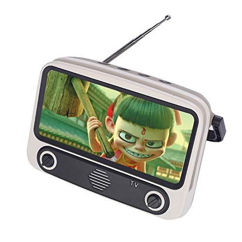 ColiCor Retro TV30 Bluetooth teléfono soporte portátil mesa teléfono celular accesorios para los teléfonos dentro de 6.4 pulgadas pantalla