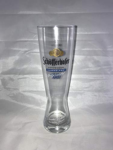 Schöfferhofer 0,5l Glas/Gläser, spritzig obergärig, alkoholfrei, Bierglas NEU