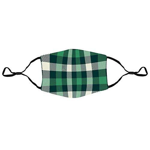 Sturmhauben Grün und Weiß Streifen Verstellbare Polyester Earloop Muffle Sturmhauben Unisex Cycling Face Protector Gesichtsdekoration