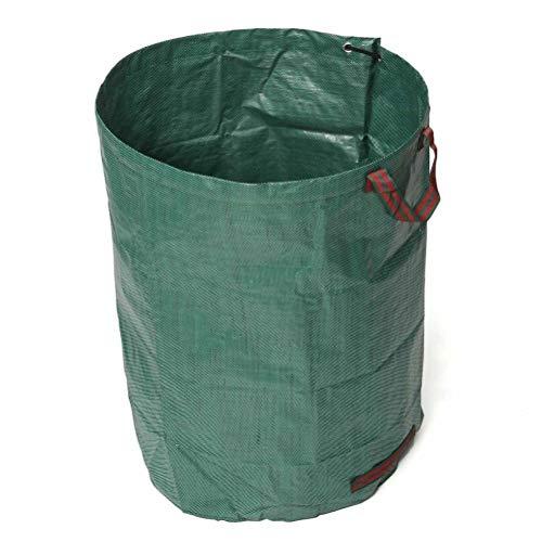 penglai Bolsas de jardín reutilizables para residuos de jardín tela ndustrial y asas hojas de basura con 2 asas bolsa de almacenamiento portátil resistente