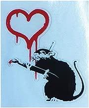 ラブラット ステッカー 38×45ミリ シール Love Rat Banksy バンクシー スマホステッカー スマホシール