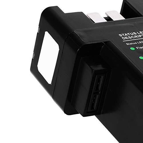 Kadimendium Cargador de batería Protección Inteligente integrada Cargador de batería múltiple Inteligente 4 en 1 para Cargar Cuatro baterías Inteligentes con el Cargador estándar