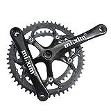 SM SunniMix Fahrrad Kurbelgarnitur 39-53T Zahn Doppelkettenrad Kurbelset 170mm Kettenblatt Kettensatz Wird für Verschiedene Fahrräder verwendet