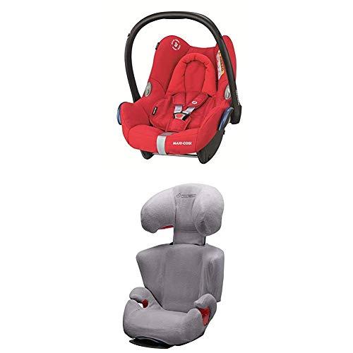 Maxi-Cosi Rodi AirProtect Kindersitz, Gruppe 2/3 (15-36 kg), nomad sand (beige) + Sommerbezug für Kindersitz Rodi AirProtect und Rodi XP, cool grey