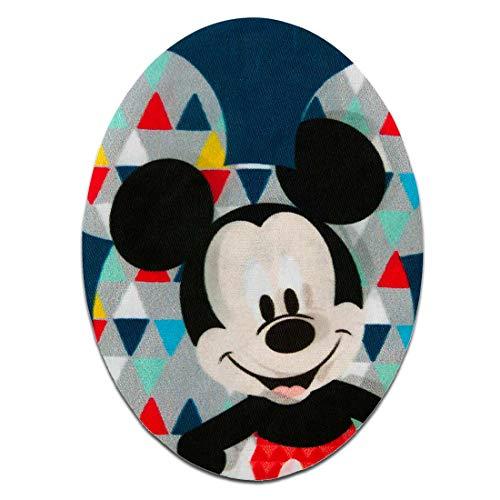 Disney © Mickey Mouse Set 2 Stück Mickey Maus - Aufnäher, Bügelbild, Aufbügler, Applikationen, Patches, Flicken, zum aufbügeln, Größe: 7 x 9,5 cm