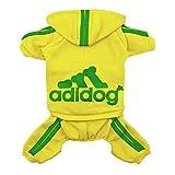 Scheppend Original Adidog Pet Clothes for Dog Cat Puppy Hoodies Coat Doggie Winter Sweatshirt Warm Sweater Dog Outfits, Yellow XX-Large