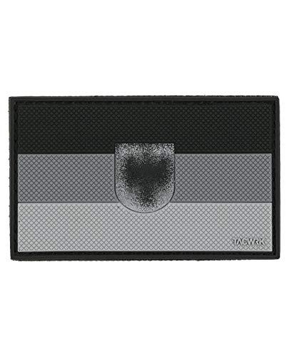 TACWRK Patch Deutschland Flagge Adler SWAT Grau 8 x 5 cm