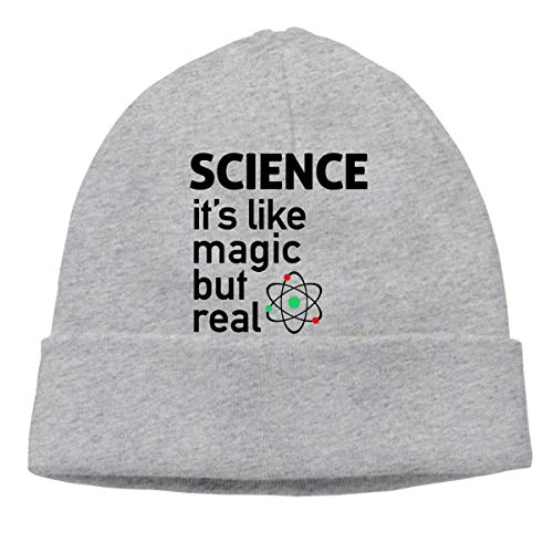 XCNGG Gorro de Punto Gorro de Lana Mens and Womens Science It's Like Magic, But Real Knitted Cap, Thick Beanies Cap