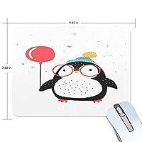 マウスパッド かわいい ペンギン 眼鏡 風船 白 雪 まだら 高級 ノート パソコン マウス パッド 柔らかい ゲーミング よく 滑る 便利 静音 携帯 手首 楽