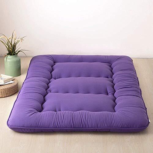 zyl Futon Mattress,Sleeping Tatami Floor Mat,Japanese Floor Mattress Pad Thicken Mat Foldable Roll Up Mattress Mat Breathable Durable Mattress,Purple-120 * 200cm