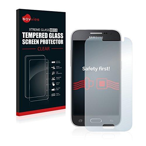 savvies Verre Trempé Compatible avec Samsung Galaxy Core Prime G360 Vitre Protection Ecran, Film Trempé de Verre, Dureté 9H