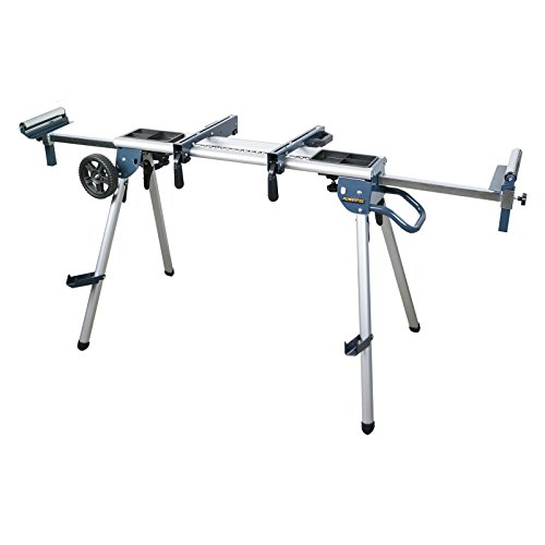 POWERTEC MT4008 Deluxe Rolling Miter Saw Stand with Systematic Tool Storage Trays