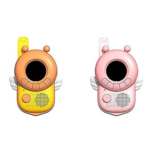 Mirando hacia atrás es la orilla Niños Walkie-Talkie Handheld Wireless Call Al Aire Libre Padre-niño Interactivo Ciencia Y Educación Juguetes Juguetes Día De Los Niños Regalo(Color:Rosa y Naranja)