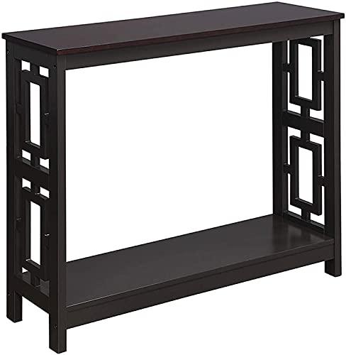 Convenience Concepts Town Square Console Table with Shelf, Espresso