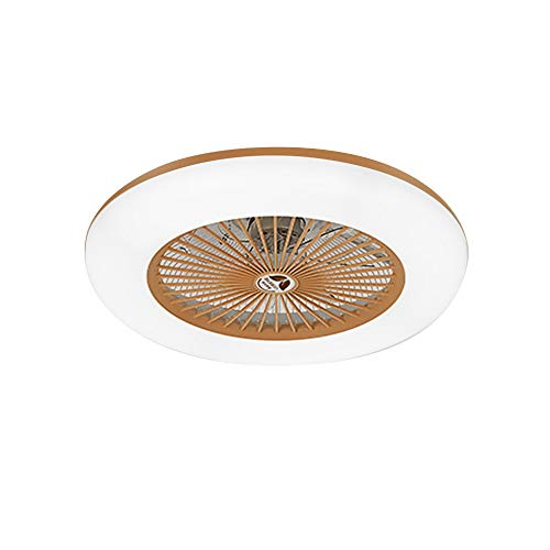 Lixada Deckenventilator mit Beleuchtung LED-Licht Einstellbare Windgeschwindigkeit mit Fernbedienung Ohne Batterie 36W Moderne LED-Deckenleuchte für Schlafzimmer Wohnzimmer Esszimmer,Gold