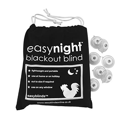 easyblinds Easynight Portable Travel Blackout Blind, Shade (Large 78' x 57')