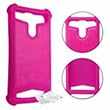 Leather-Effect Silicone Gel Shockproof Back Case [Allows