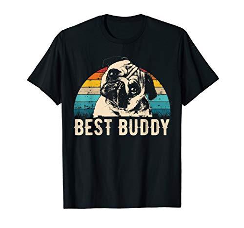 Retro Mops T-Shirt Geschenk Idee