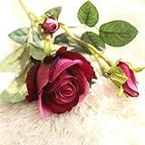 TXXT Flor Artificial Flor de Rosas Artificiales, Ramo de Novia de Novia, Flores Falsas, Oficina de Hotel de Fiesta para el hogar Decoración de Bricolaje (Color : Deep Pink)