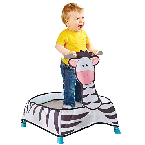 Kid Active Baby Zebra Toddler Trampoline Toy, Black/White