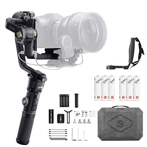 Zhiyun Crane 2S Combo Crane2S with Grip 3-Axis Handheld Gimbal Stabilizer for DSLR and Mirrorless Camera Compatible with Sony LUMIX Nikon Canon BMPCC 6K Upgraded Version zhi yun Crane 2