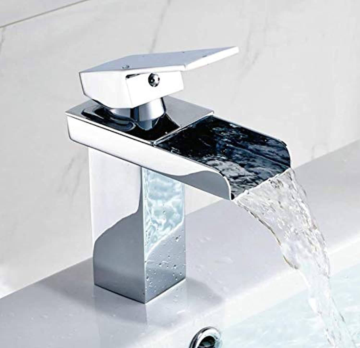 Bathroom Faucet Brass Faucet Bathroom Basin Mixer Tap Single Handle Hot and Cold Taps