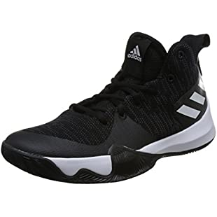 adidas Men's Explosive Flash Basketball Shoes, Black (Cblack/Carbon/Ftwwht Cblack/Carbon/Ftwwht), 9 UK