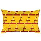 N/A - Funda de cojín cuadrada de terciopelo suave para salón, sofá, dormitorio, 35 x 50 cm, diseño de bandera de España