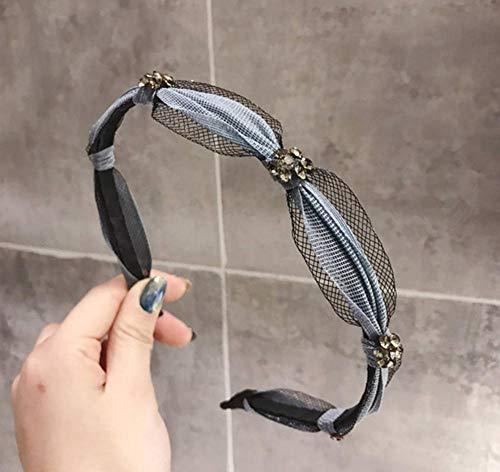 sufengshop Fascinerende Boor Hoofdbanden Mode Eenvoudige Temperament Geknoopt Vrouwen Haarbanden Chic Mesh Stof Hoofd slijtage