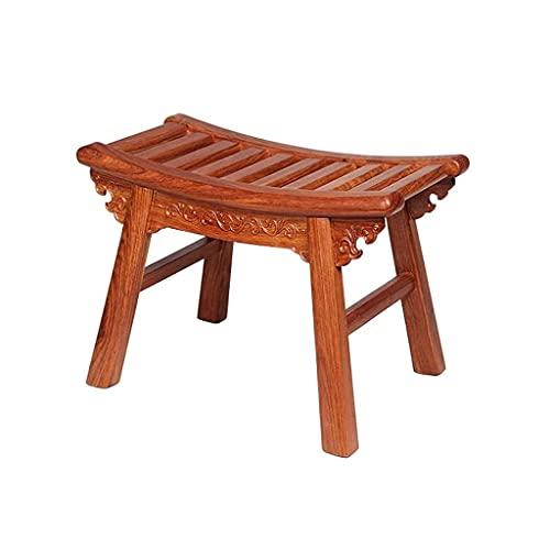 Taburete de madera maciza banco cuadrado enano zapato taburete sofá banco exquisito taburete, fuerte durabilidad, buena resistencia al desgaste, comúnmente utilizado en la sala de estar