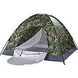 CCCMS Camuflaje campaña campaña Grande Impermeable impermeabiliza una Sola Capa instantánea Cabina Carpa para niños Camping Senderismo Festivales al Aire Libre Viaje de Coche
