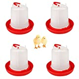 DoubleWood 4PACK Plastic Poultry Drinker Chick Waterer Kit 1.5 L Waterer Hanging Poultry Water Container (4)