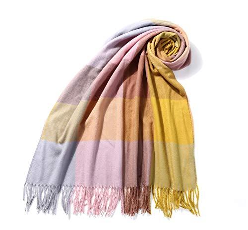 Irisaa XXL dames geruit sjaal lange wintersjaal warm en zacht 192 cm × 72 cm