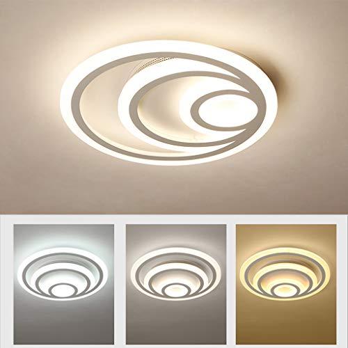 Led-plafondlamp voor slaapkamer, modern, plafondlamp, rond, voor woonkamer, hanglamp, eetkamer, hal, verlichting voor kinderen 60cm Dimming