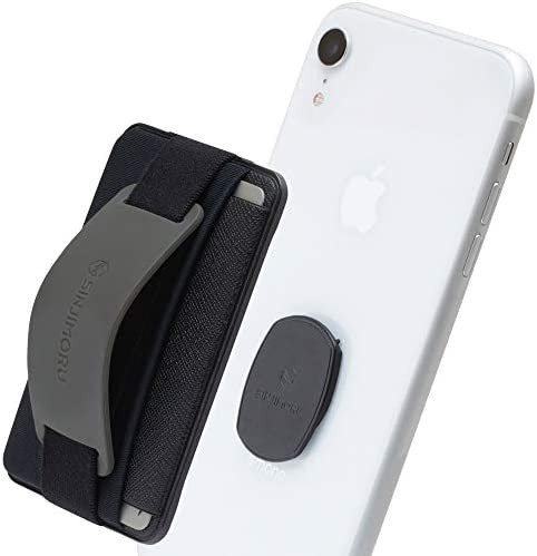 Sinjimoru Detachable Cell Phone Wallet Wireless Charging Compatible Mobile Phone Grip Stand product image