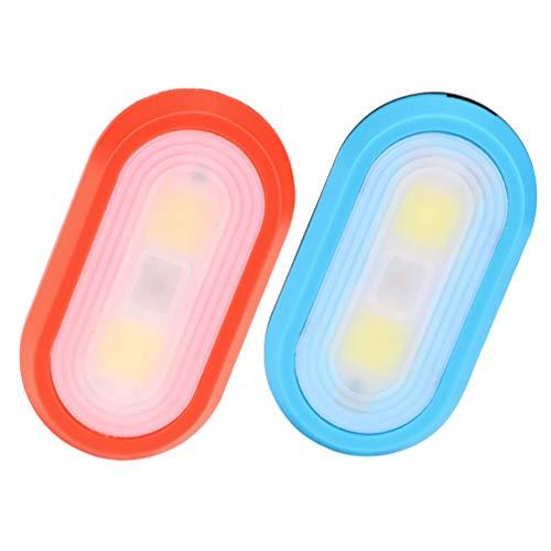 VICASKY 2 Piezas Clip para Correr en La Luz Que Brilla en La Oscuridad Luz para Correr Clip Led Luz de Advertencia para Correr de Noche Azul Blanco Impermeable Al Aire Libre (Sin Batería)
