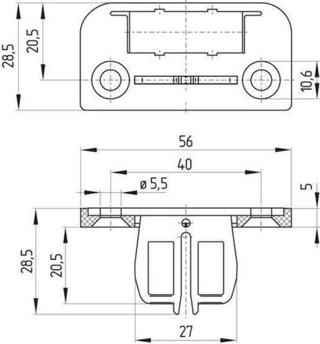 Schmersal Betätiger Bet.AZ15/16-B1-1747 Betätiger für Positionsschalter mit getrenntem Betätiger 4030661104003