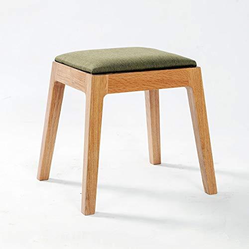 JIAHE115 HJCA Woonkamer Kruk Massief Hout Make-up Kruk Stof Zijbank Sofa Kruk Eiken Dressoir Kruk (kleur: Hout Kleur) Multi-functionele handige stoel voor meerdere occ