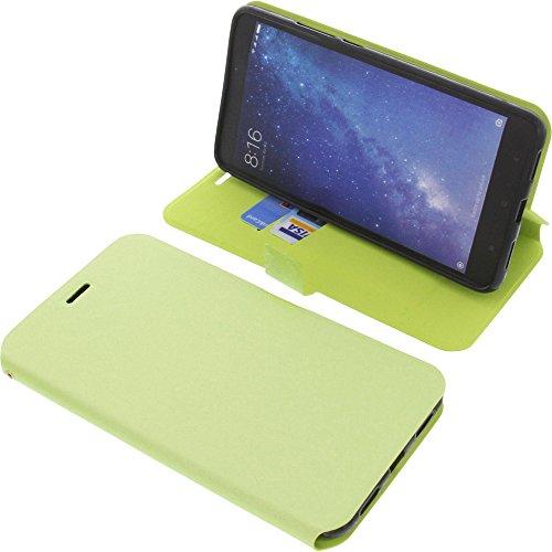 foto-kontor Funda para Xiaomi Mi MAX 2 Estilo Libro Verde Protectora