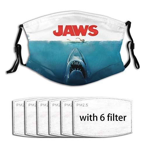 Great White Shark Jaws (4) Face Mask Bandana Scarf Filter Reusable Mouth Ear Loops Kids Children Boy Girl